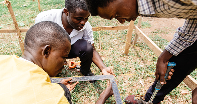 An image of youth in Rwanda representing Out-of-School Learning