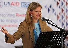 Photo of U.S. Ambassador Erica Barks-Ruggles