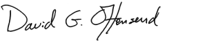 David Offensend signature